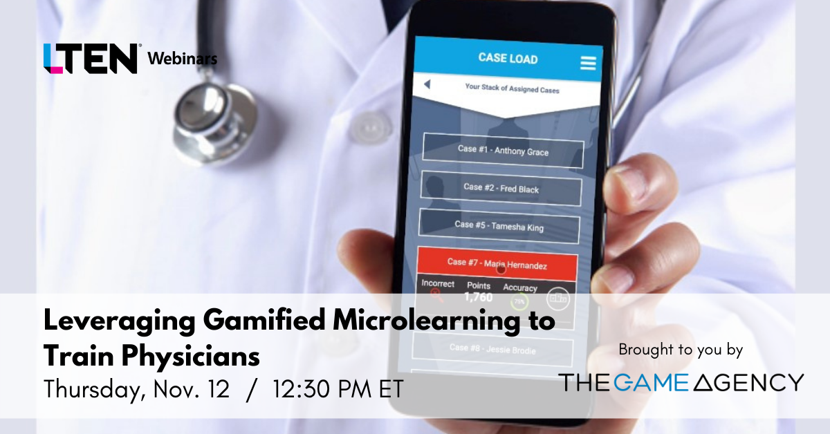 Leveraging Gamified Microlearning to Train Physicians - Image of physician holding cell phone