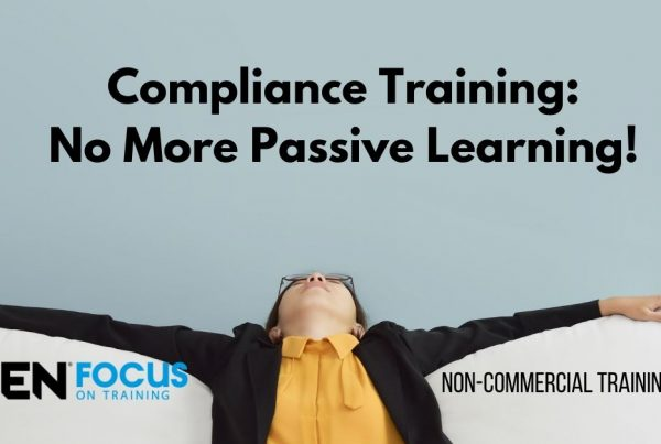 Compliance Training - No More Passive Learning (banner image with person looking resigned)