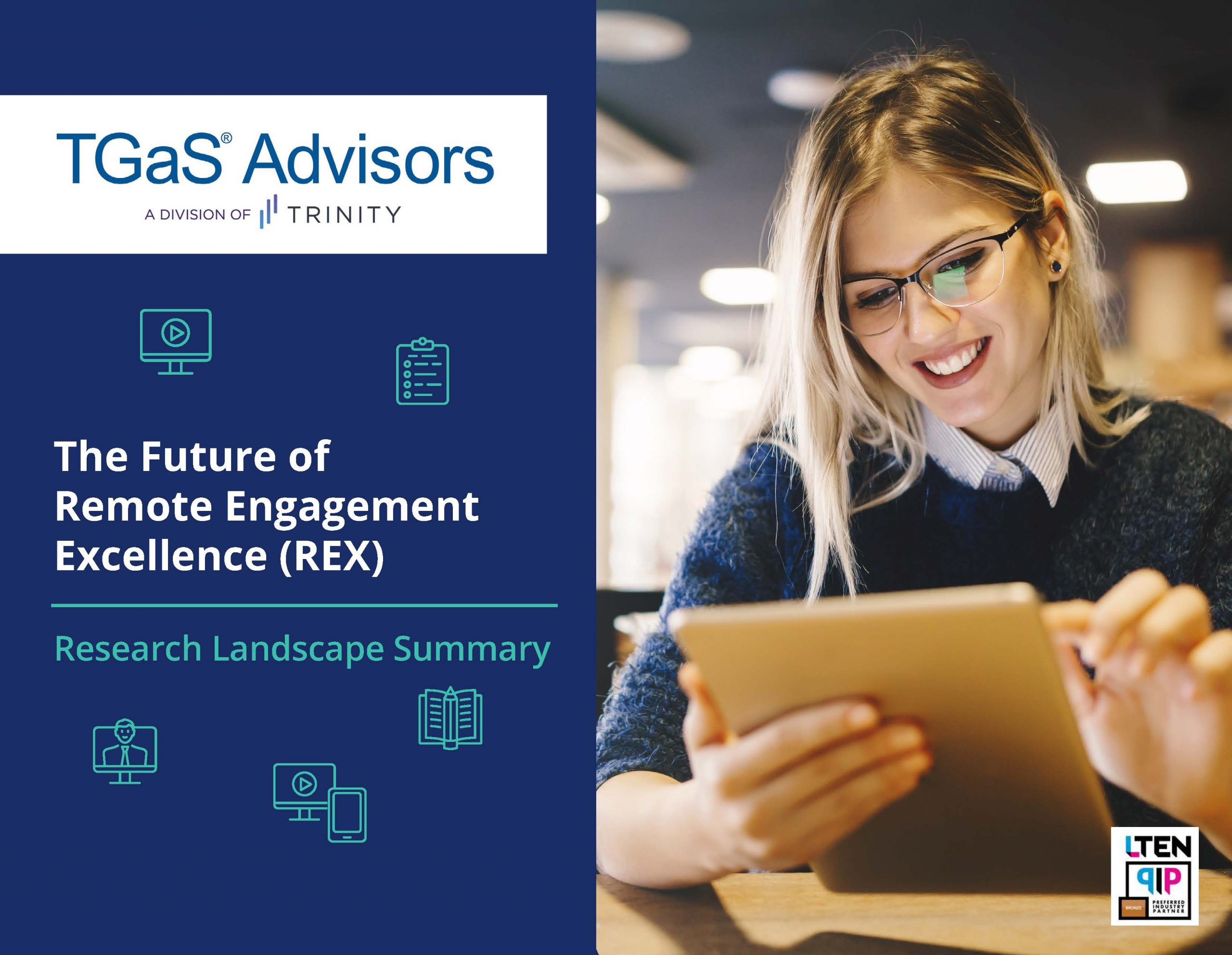 Study cover - TGaS Advisors -- The Future of Remote Engagement Excellence (REX)